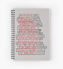 Haruki Murakami Book Fan Spiral Notebook