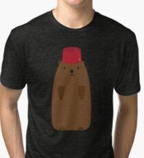 The Big Groundhog in a Fez Tri-blend T-Shirt