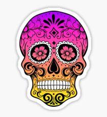 Sugar Skull Sunset Sticker