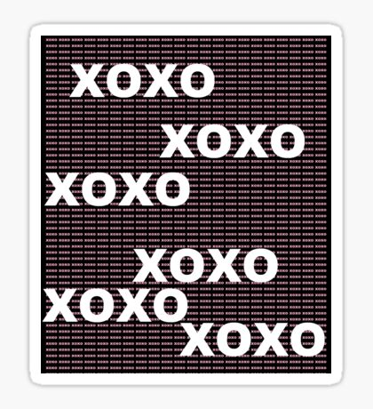 XOXO pink and white Sticker