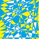 Yellow turquoise polygon by tdhanshew