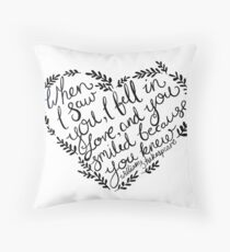 Shakespeare When I Saw You, I Fell In Love Throw Pillow