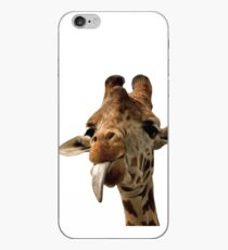 Giraffe with Cute Tongue! iPhone Case