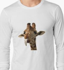 Giraffe with Cute Tongue! Long Sleeve T-Shirt