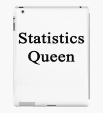 Statistics Queen  iPad Case/Skin