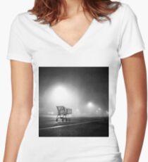 Shopping Cart Women's Fitted V-Neck T-Shirt