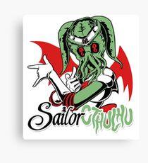 Sailor Cthulu Canvas Print