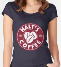 A Cup of Coffee and No One Gets Hurt Women's Fitted Scoop T-Shirt
