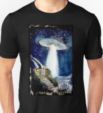 Ufo over the Shire.. Unisex T-Shirt