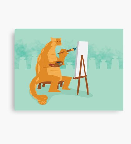 Artistic Ankylosaurus Canvas Print