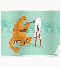 Artistic Ankylosaurus Poster