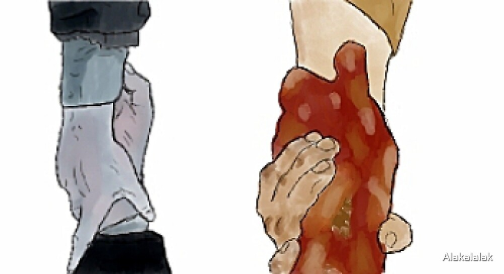 Frodo and Sam Holding Hands by Kala W