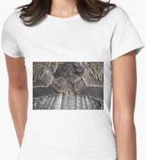 Symmetric feathers Women's Fitted T-Shirt