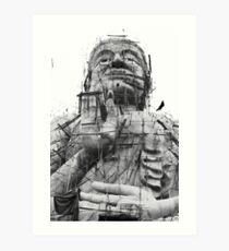 Buildling Buddha Art Print