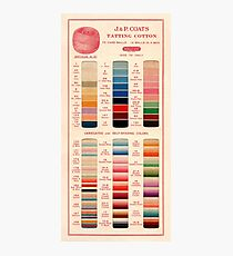 Vintage Color Thread Chart Photographic Print