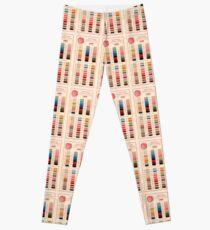 Vintage Color Thread Chart Leggings