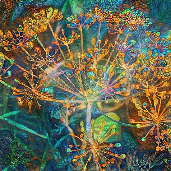 Floral deep dream Abstraction