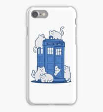 The Cats Have The Tardis! iPhone Case/Skin