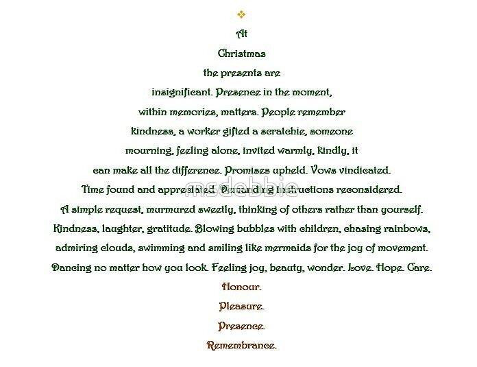 christmas tree shape poem by msdebbie