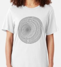 Psychedelic Whirlpool Slim Fit T-Shirt