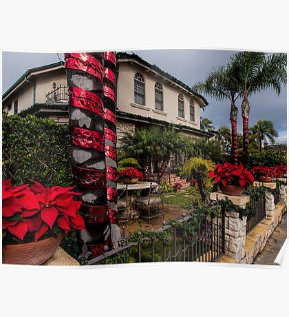 Christmas in a Naples Garden Poster