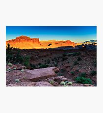 Sunset at Capitol Reef Photographic Print