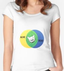 Schrödinger's Cat Venn Diagram Women's Fitted Scoop T-Shirt