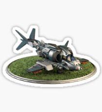 Futuristic Gunship Sticker