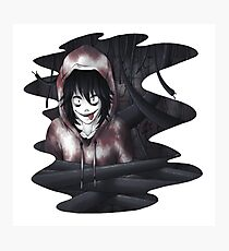 Jeff The Killer - In The Wall Photographic Print