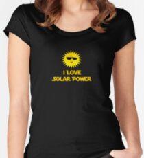 I Love Solar Power- Installer T-Shirt Duvet Women's Fitted Scoop T-Shirt