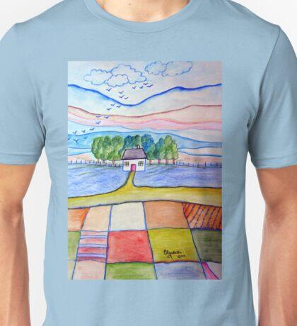 Patchwork landscape T-Shirt