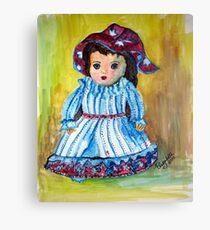 Marietjie, my pop / my doll Canvas Print