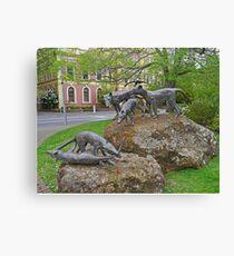 Thylacine statues, Launceston, Tasmania, Australia Canvas Print