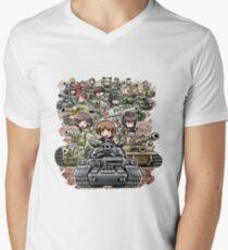 Girls und Panzer Crew Men's V-Neck T-Shirt