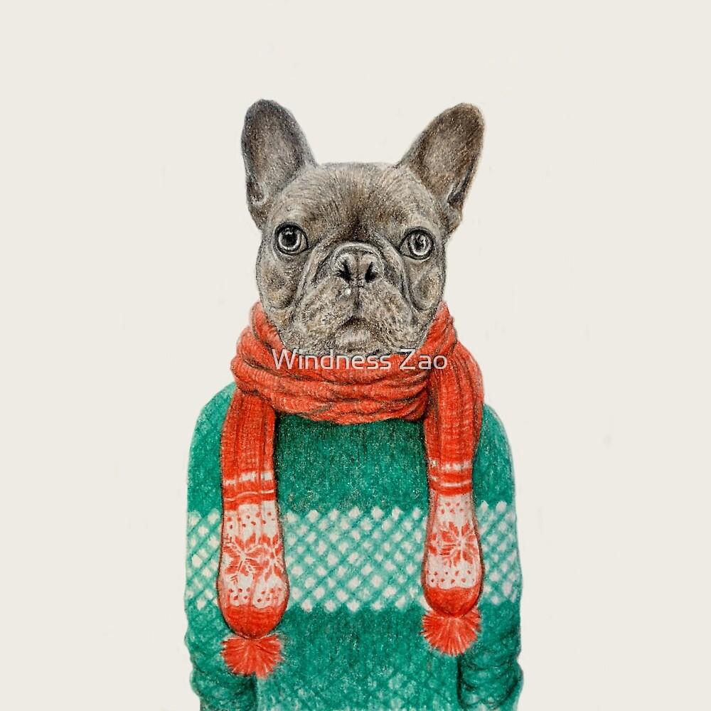 french bulldog portrait by Windness Zao