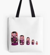 Russian Nesting Dolls - Red Tote Bag