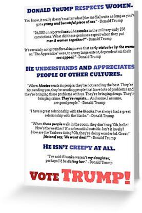 Donald trump bestworst quotes vote trump greeting cards by donald trump bestworst quotes vote trump by draconiandragon m4hsunfo