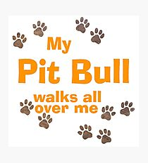 My Pit Bull Walks All Over Me Photographic Print