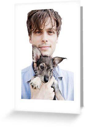 spencer reid holding a puppy. matthew gray gubler holding puppy by miamulin57 spencer reid a