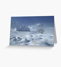 Blackrock Cottage in Winter. Glen Coe. Highlands of Scotland. Greeting Card