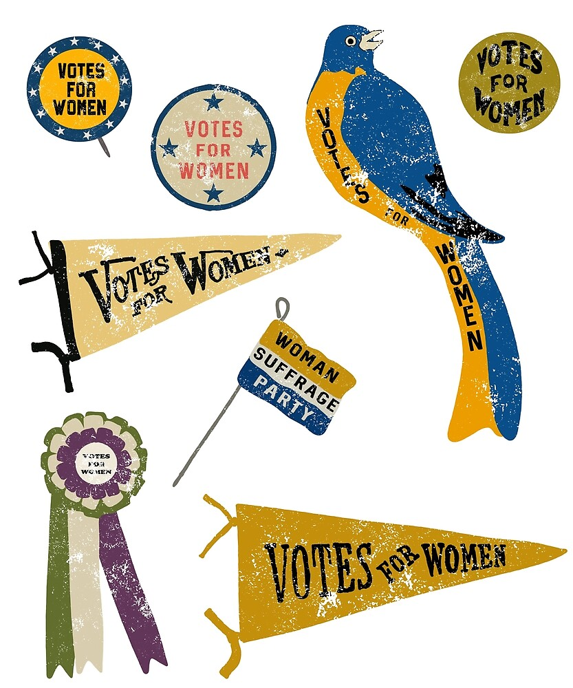Women's Suffrage Movement Votes For Women Memorabilia by awkwarddesignco