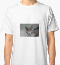 Beautiful Portrait of A Grey Russian Cross Tabby Cat Classic T-Shirt