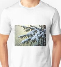 Snow on branches Unisex T-Shirt