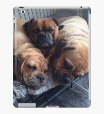 cute cuddly puggles iPad Case/Skin