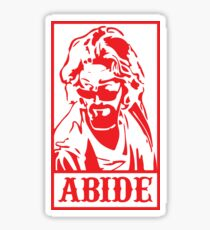 Abide, The Big Lebowski Sticker