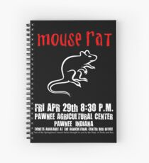 Mouse Rat - Concert Poster Spiral Notebook