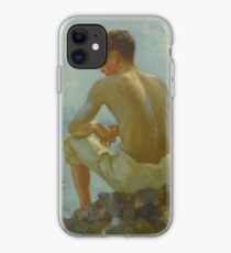 Henry Scott Tuke, , BRITISH , A YOUNG SAILOR iPhone Case