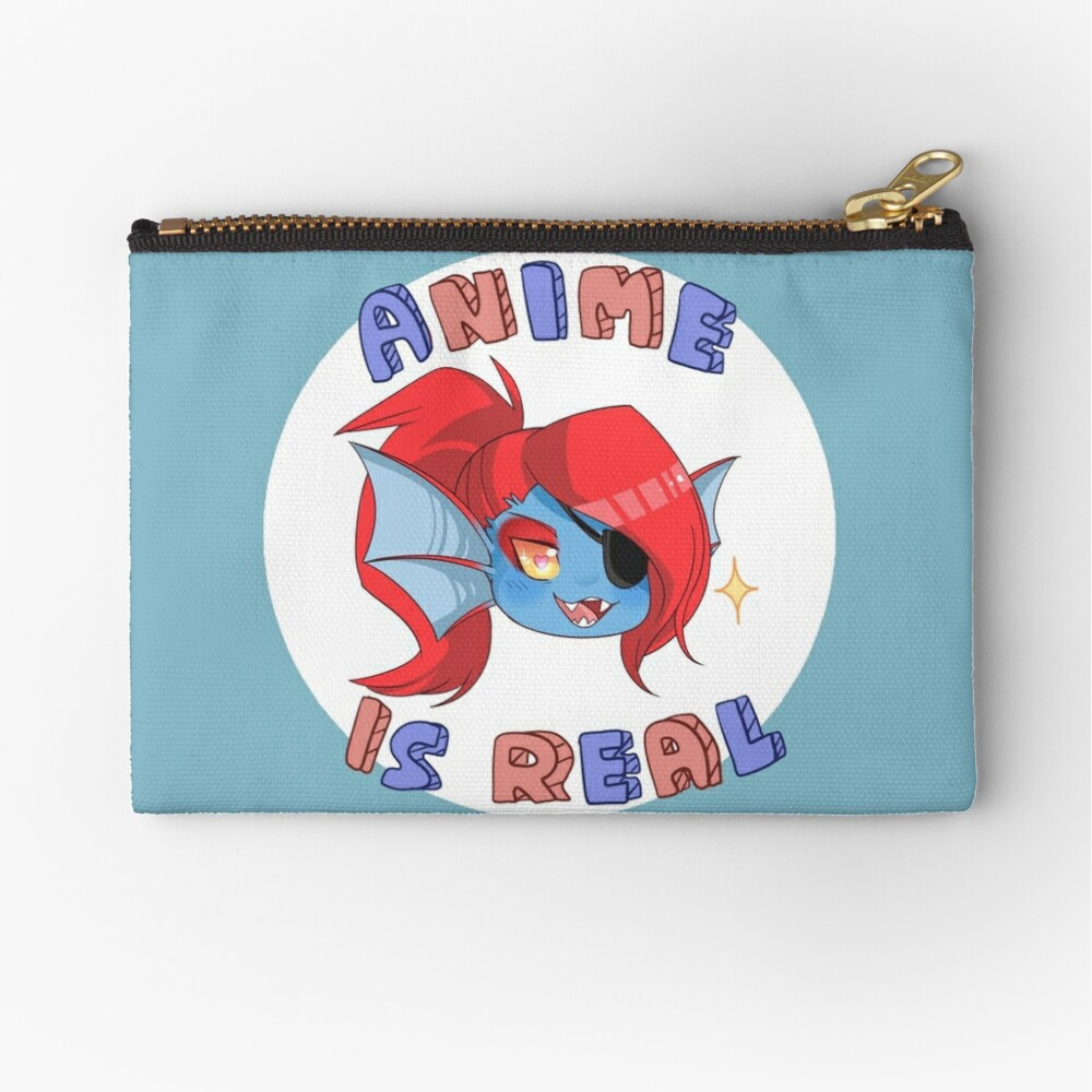 Undyne - Anime is real Zipper Pouch