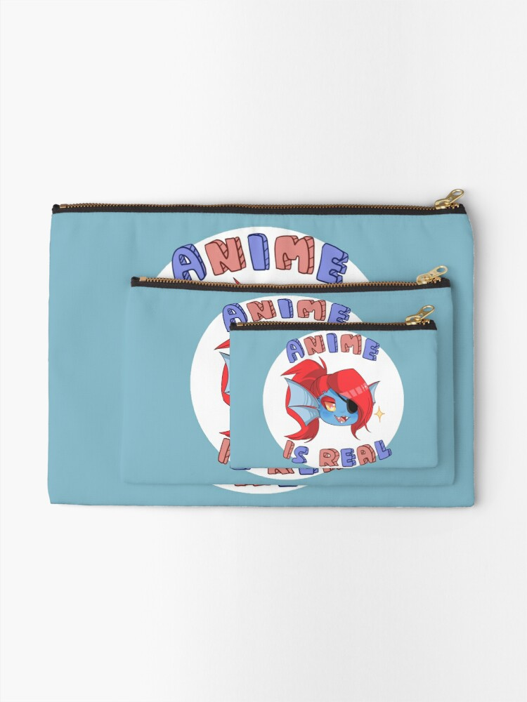 Alternate view of Undyne - Anime is real Zipper Pouch
