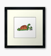 Hungry Turtle Framed Print